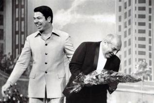 Silvio com Manoel da Nóbrega